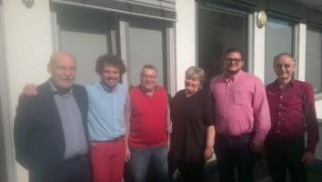 2017-05-13 Jonas mit dem DL21-Sprecherkreis in Ingolstadt (1.v.l.)