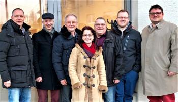 DL21-Bayern-Sprecher*innen plus einem neuen Mitglied (v.l.n.r.: Herbert Lohmeyer, Prof. Henning Höppe, Wolfgang Schmid, Anja König, Hugo Steiner, Stephan Isphording (Mitglied), Benjamin Lettl)