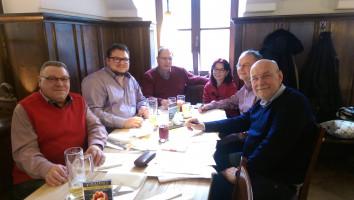 Sprecher und Mitglieder (v.l.n.r.): Hugo Steiner, Benjamin Lettl, Herbert Lohmeyer, Anja König, Wolfgang Schmid, Jonas Lanig