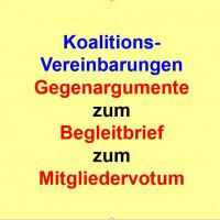 Gegenargumente zum Begleitbrief zum SPD-Mitgliedervotum