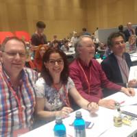 Mitglieder der DL21-Bayern beim Bundesparteitag in Wiesbaden
