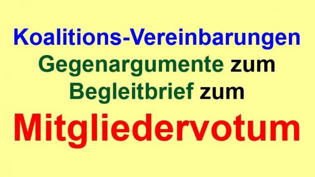 Gegenargumente zum Begleitbrief zum Mitgliedervotum