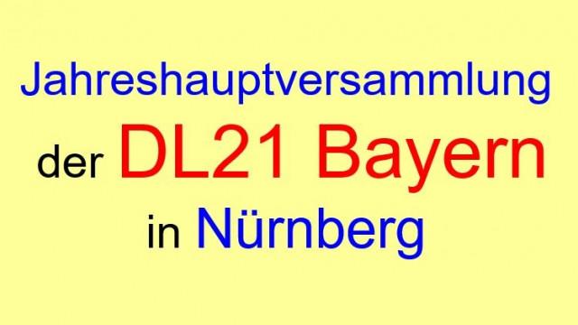 Jahreshauptversammlung der DL21 Bayern am 24.06.2018