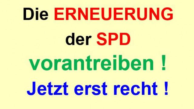 Die Erneuerung der SPD vorantreiben - Jetzt erst recht!