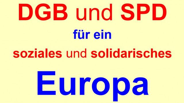 1. Mai 2019-Tag der Arbeit - für ein soziales und solidarisches Europa