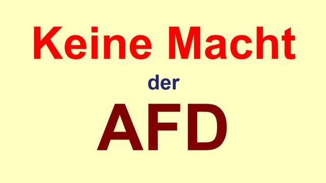 Der AFD zu keiner Regierungszusammenarbeit verhelfen