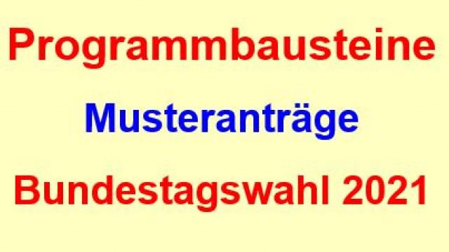 DL21-Programmbausteine und Muster-Anträge für die Bundestagswahl 2021
